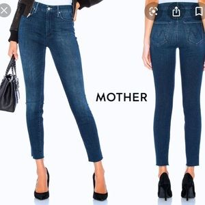 Mother High-Waisted Looker Ankle Skinny Jeans